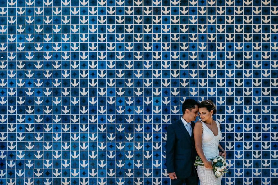 Um ensaio de casal com o traço do arquiteto... Vejam os lugares que Brasília oferece