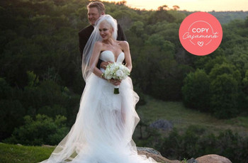 "Gwen Stefani e Blake Shelton disseram ""sim""! Inspirem-se nesse casamento ""rock country"""