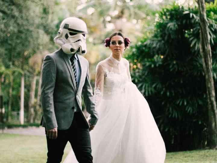 Casal geek com orgulho: dia C para os amantes de Star Wars