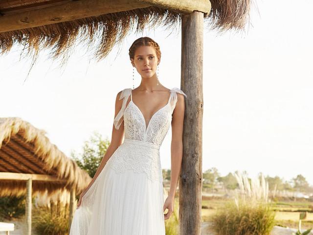 Vestidos Aire Beach Wedding 2021: conheça o frescor da nova temporada Aire Barcelona