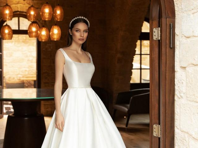 Decote quadrado: 60 vestidos de noiva para luzir no dia C