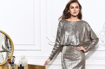 Vestidos em tons de prata: aposta metalizada para as convidadas