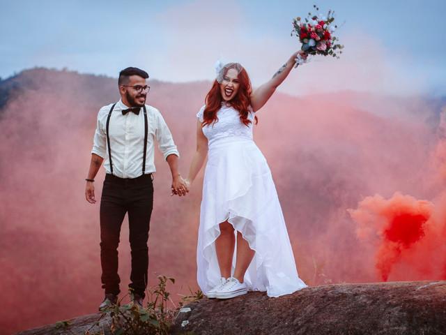 Smoke bombs: inspiração para fotografias com fumaça colorida