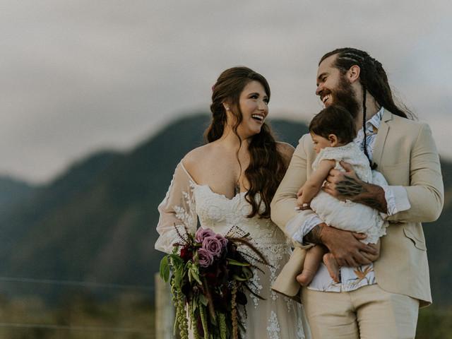 Fotografias do dia C com filhos do casal: tenham um álbum de família impecável