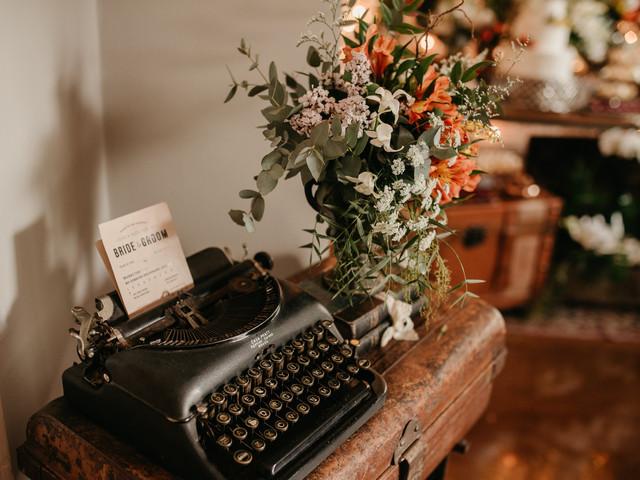 Máquinas de escrever: aposta retrô na decoração do casamento