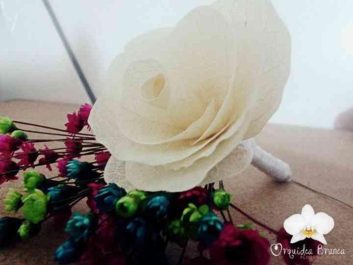 Orquídea Branca Flores e Buquês