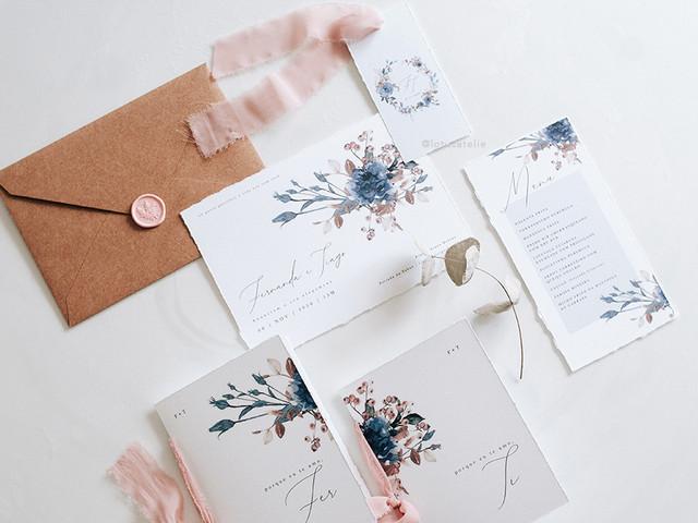 """65 Convites florais em todos os estilos: uma estampa atemporal para eternizar o seu """"sim"""""""