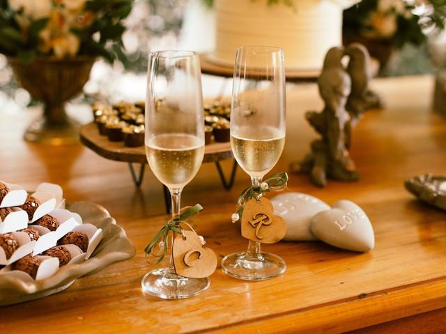 5 Estilos de decoração para as taças dos  noivos