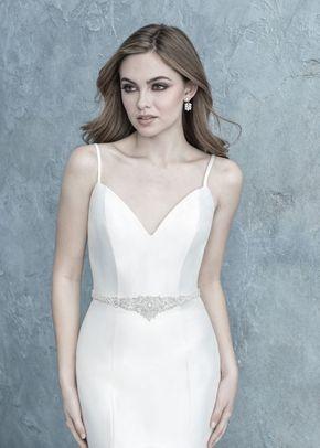 S152 beaded bridal sash, Allure Bridals