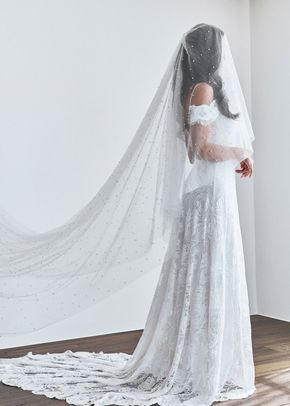 pearly short veil, 78