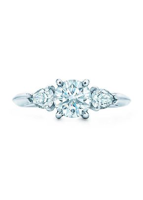 ROUND BRILLIANT WITH PEAR_SHAPED SIDE STONES, Tiffany & Co.