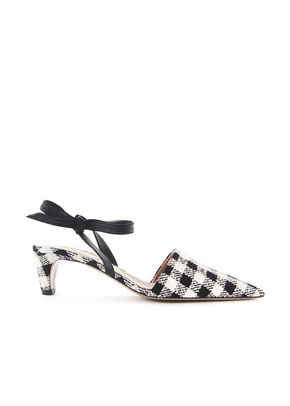 GINGHAM BOW MULES, 11