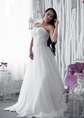 W6106 SOPHIA , White Dress