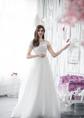 W6108 MAEVA , White Dress