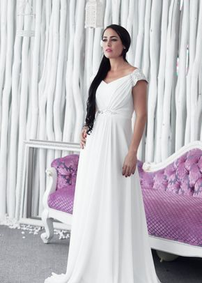 W6121 TANIA , White Dress