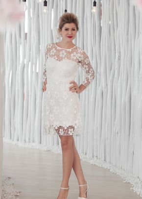 W6122 VALERYA , White Dress