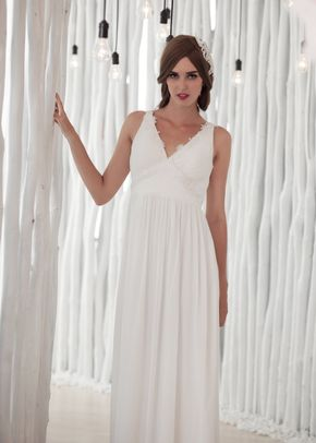 W6123 VIKA , White Dress