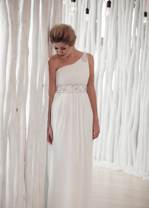 W6124 ATHENA , White Dress