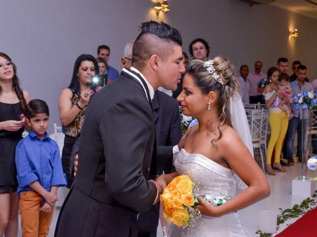 O casamento de Aline e Cristiano