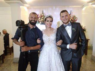 O casamento de Larice e André