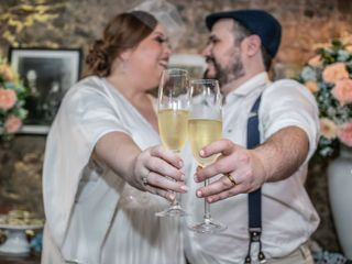 O casamento de Bia e Santi