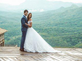 O casamento de Jordania e Breno