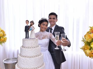 O casamento de Miriam e Flávio