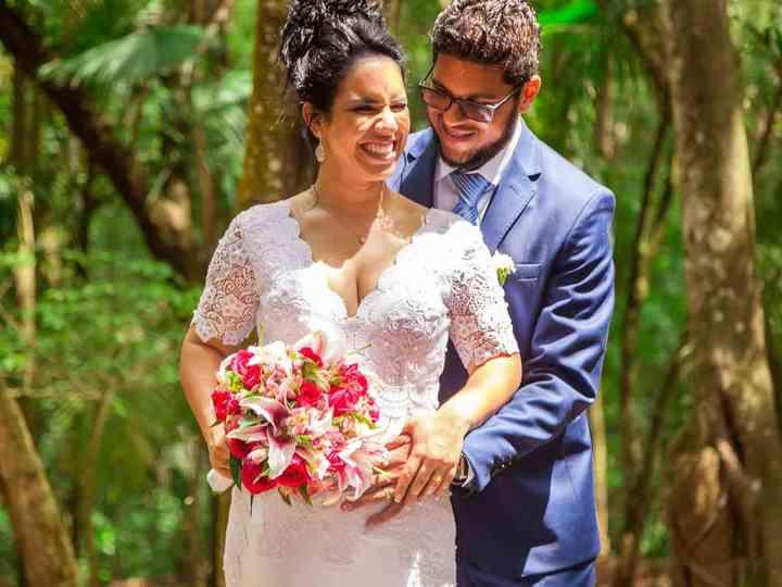 O casamento de Fabíola e Alex