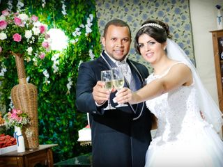 O casamento de Aline e Clodoaldo