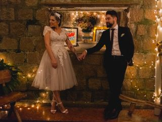 O casamento de Flora e Thivá