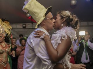 O casamento de Aline e Ariel
