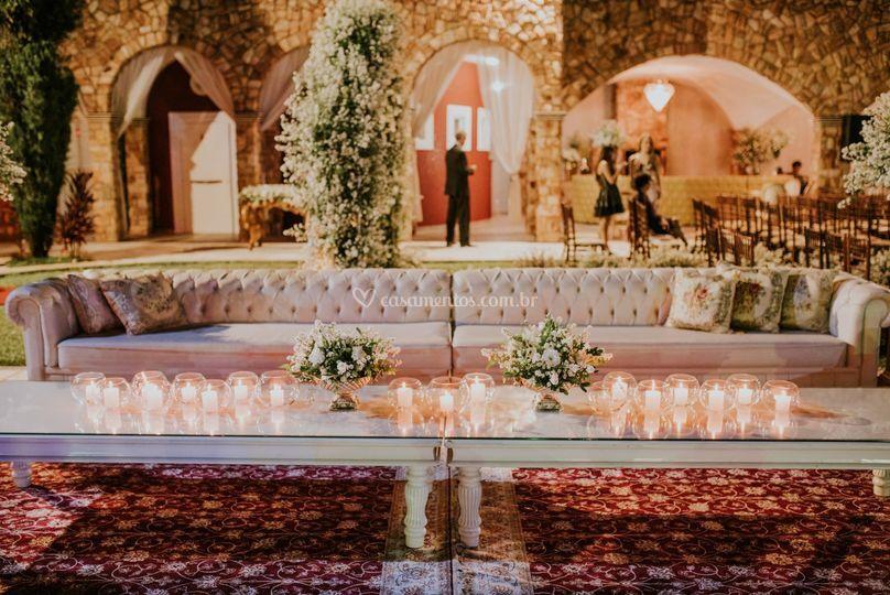Lounge em recepção