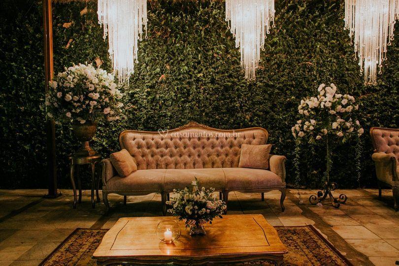 Sofá em lounge