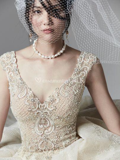 Vestido de noiva evasê