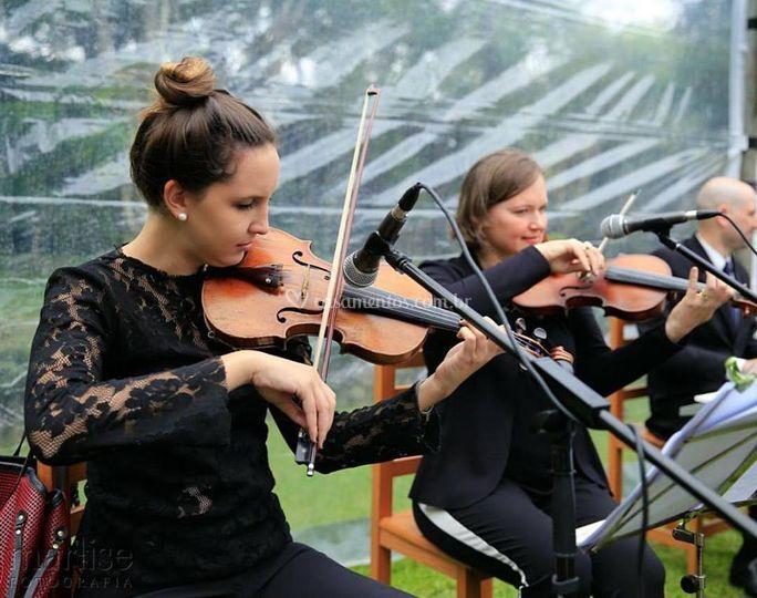 Dois violinos e piano