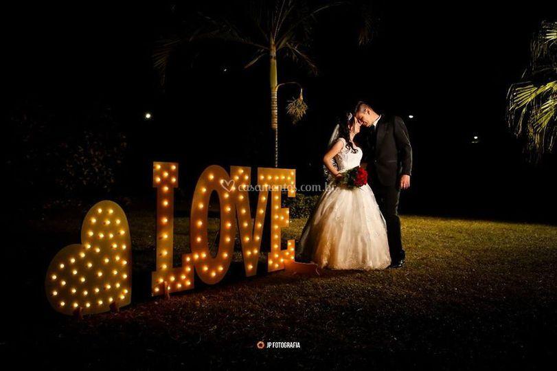 Luminoso Love + coração