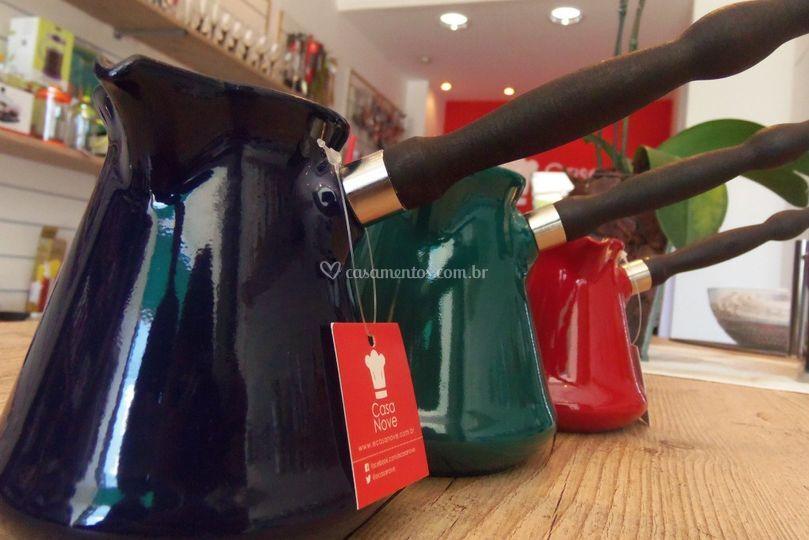 Café turco em cores lindas