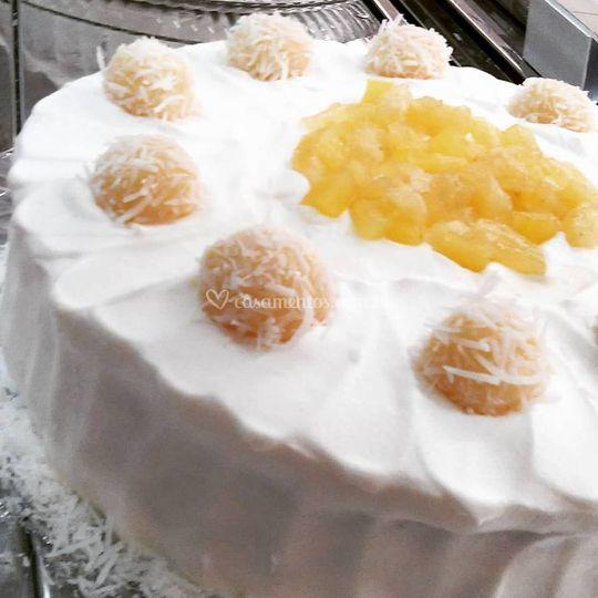 Torta de abacaxi com coco!