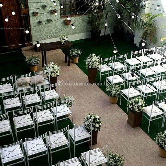 Lindo lounge para cerimônias
