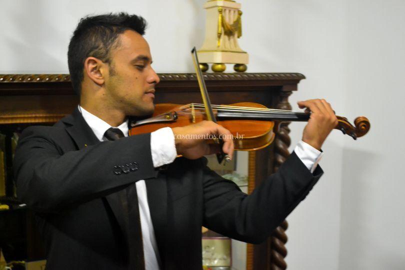 Violinista antes do cerimonial