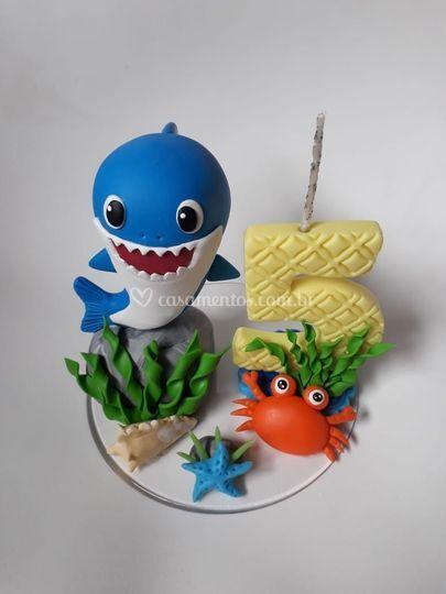 Vela personalizada baby shark