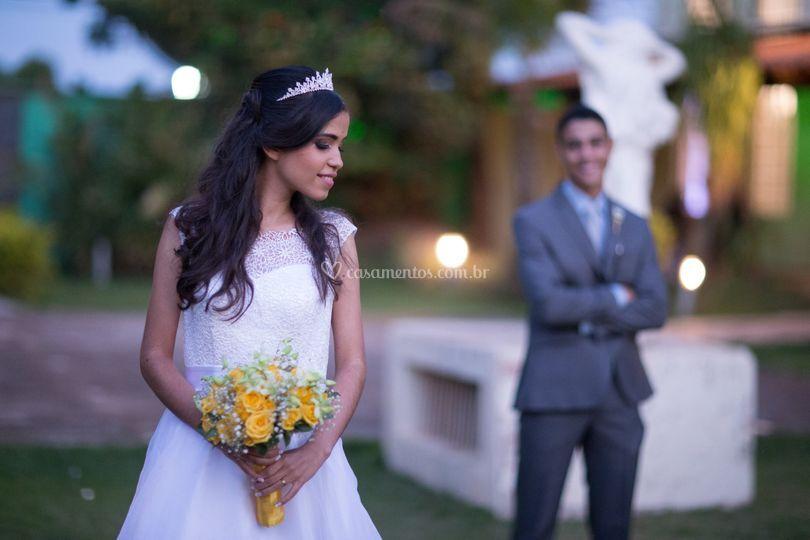 Casal após  casamento