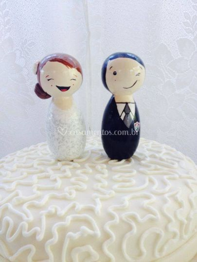 Topo do bolo personalizado