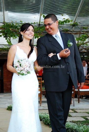 Belo vestido de noiva