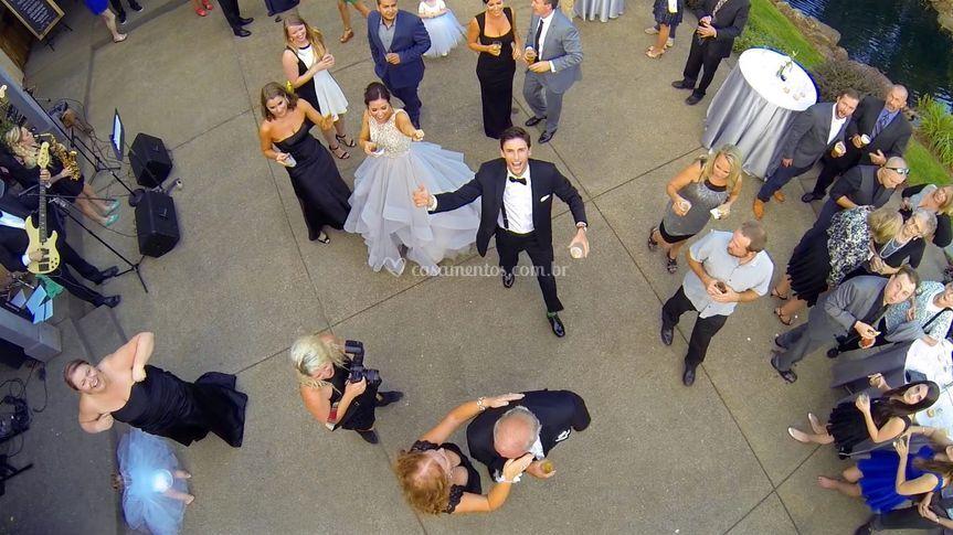 Casamento - imagem via drone