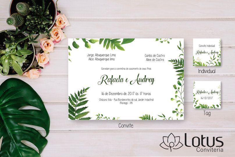 Arte digital Convite Flor