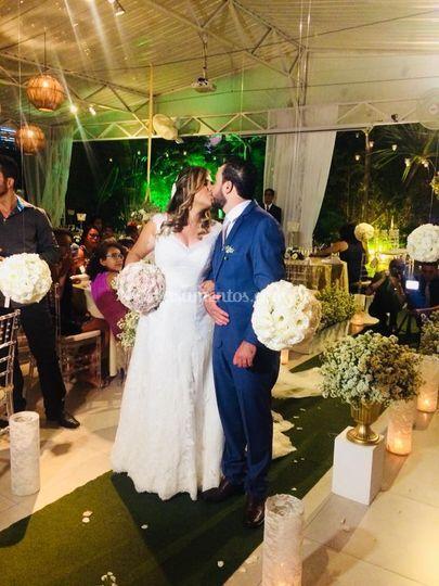 Noivos Sandro e Karina