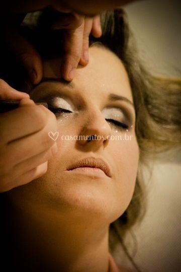 A beleza da maquiagem
