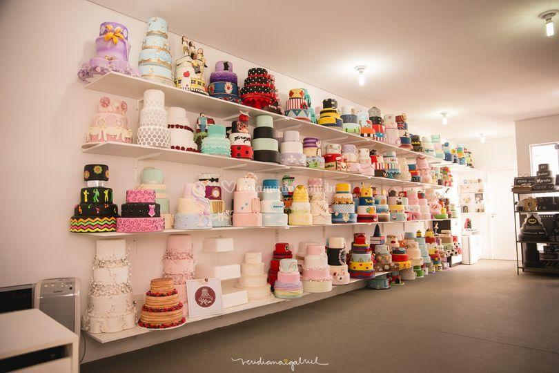 Nosso acervo com bolos lindos