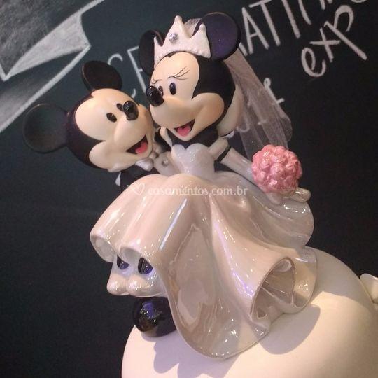 Topo de bolo em cerâmica